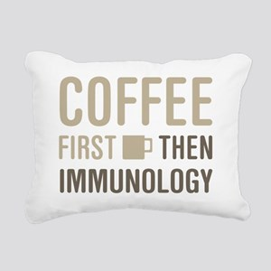 Coffee Then Immunology Rectangular Canvas Pillow