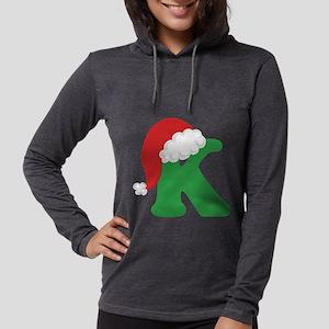 Christmas Letter K Alphabet Long Sleeve T-Shirt