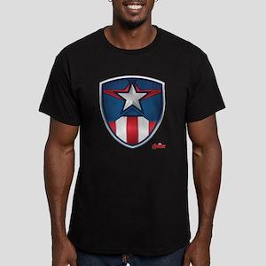Cap Shield Men's Fitted T-Shirt (dark)