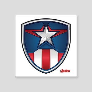 """Cap Shield Square Sticker 3"""" x 3"""""""
