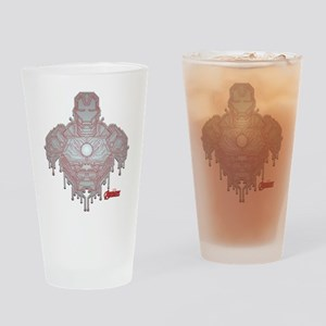 Iron Man Circuit Drinking Glass