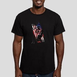 Captain America Flag S Men's Fitted T-Shirt (dark)