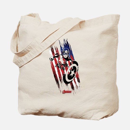 Captain America Flag Stripes Tote Bag