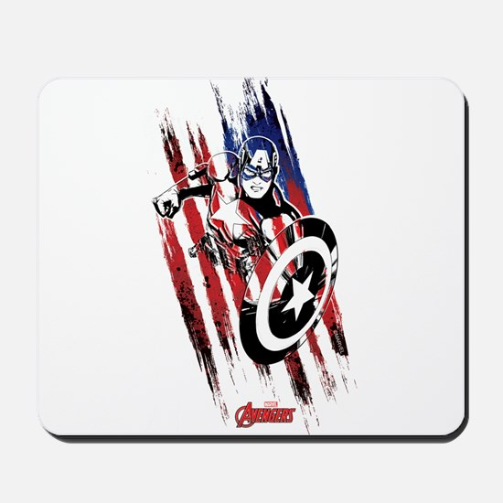Captain America Flag Stripes Mousepad