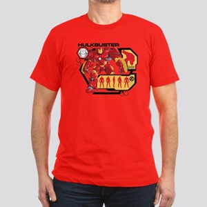Hulkbuster Chart Men's Fitted T-Shirt (dark)