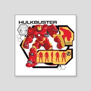 "Hulkbuster Chart Square Sticker 3"" x 3"""