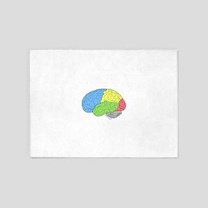 Primary Brain 5'x7'Area Rug