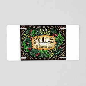 YuleBlessings Aluminum License Plate