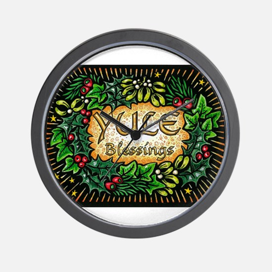 YuleBlessings Wall Clock