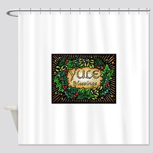 YuleBlessings Shower Curtain