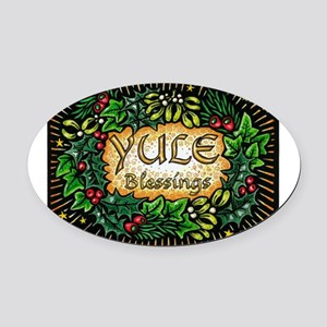 YuleBlessings Oval Car Magnet