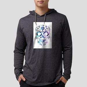 Blue & Purple Sugar Skul Long Sleeve T-Shirt