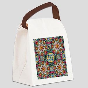 Fractal Jewel Kaleidoscope Canvas Lunch Bag