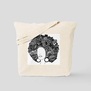 Large Afro | Original Pen & Ink Tote Bag