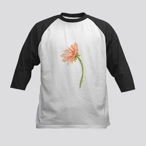 Watercolor Daisy Flower Peach and Baseball Jersey