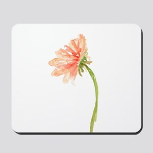 Watercolor Daisy Flower Peach and Orange Mousepad