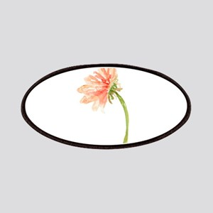 Watercolor Daisy Flower Peach and Orange Patch
