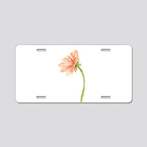 Watercolor Daisy Flower Pea Aluminum License Plate