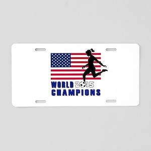 Women's Soccer Champions Aluminum License Plate