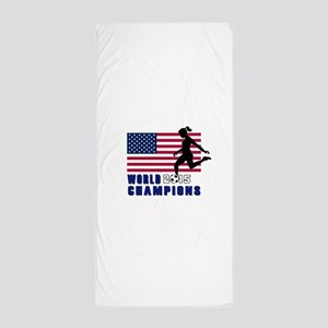 Women's Soccer Champions Beach Towel