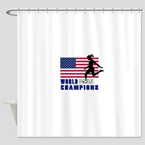Women's Soccer Champions Shower Curtain