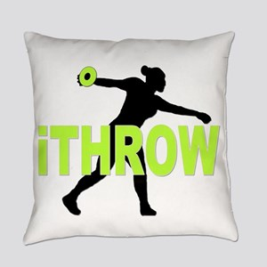 Green Discus Everyday Pillow