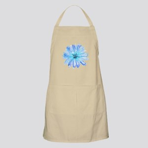 Watercolor Daisy Flower Blue Apron