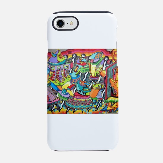 Colorful Abstract Street Art iPhone 8/7 Tough Case