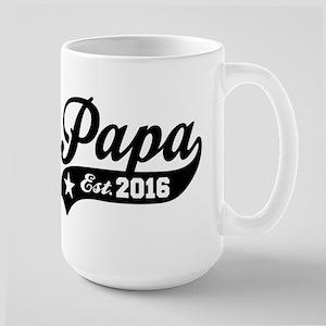 Papa Est. 2016 Large Mug