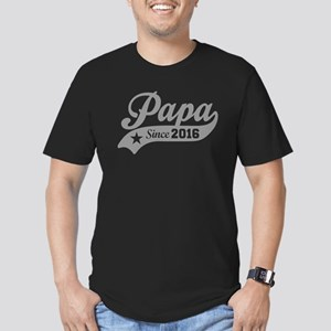 Papa Since 2016 Men's Fitted T-Shirt (dark)