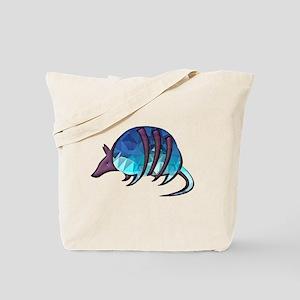 Mosaic Blue Armadillo with Purple Metalli Tote Bag