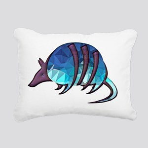 Mosaic Blue Armadillo wi Rectangular Canvas Pillow