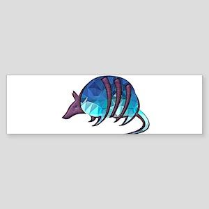 Mosaic Blue Armadillo with Purple M Bumper Sticker