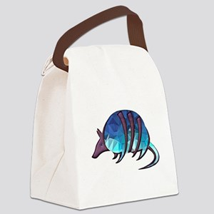 Mosaic Blue Armadillo with Purple Canvas Lunch Bag