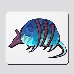 Mosaic Blue Armadillo with Purple Metall Mousepad