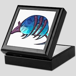 Mosaic Blue Armadillo with Purple Met Keepsake Box