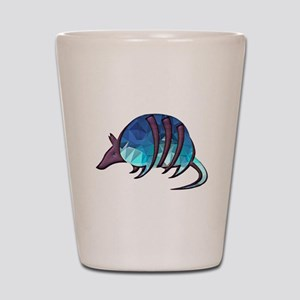 Mosaic Blue Armadillo with Purple Metal Shot Glass