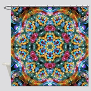 Fractal Jewel Kaleidoscope 2 Shower Curtain
