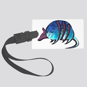 Mosaic Blue Armadillo with Purpl Large Luggage Tag