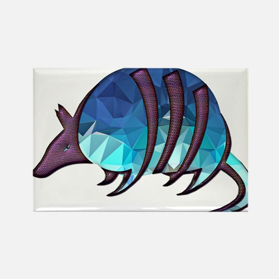 Mosaic Blue Armadillo with Purple Magnets