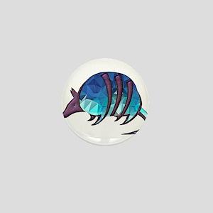 Mosaic Blue Armadillo with Purple Meta Mini Button
