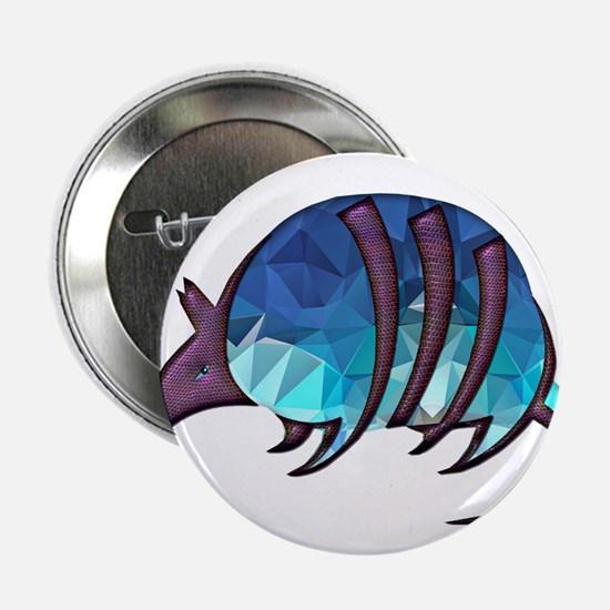 """Mosaic Blue Armadillo with 2.25"""" Button (10 pack)"""