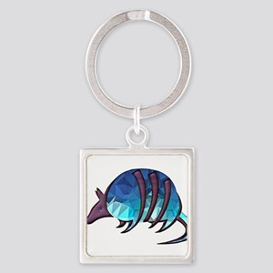 Mosaic Blue Armadillo with Purp Keychains