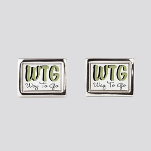 Way To Go Rectangular Cufflinks