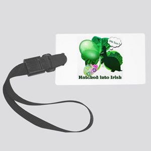 Hatched Into Irish Large Luggage Tag