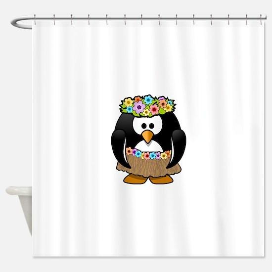Hawaii Penguin Shower Curtain