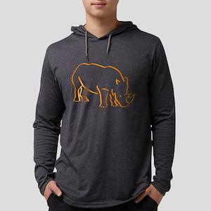 Orange Rhino Long Sleeve T-Shirt