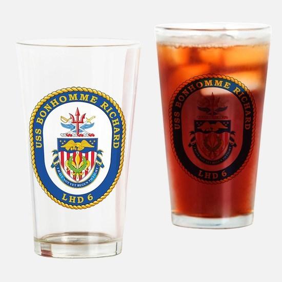 USS Bonhomme Richard LHD-6 Drinking Glass