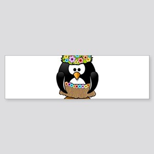 Hawaii Penguin Bumper Sticker
