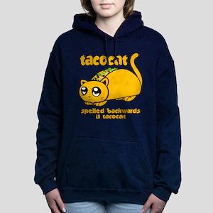 Funny! Taco Cat Women's Hooded Sweatshirt
